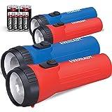 EVEREADY LED 手电筒多件装,明亮耐用,超长电池寿命,适用于紧急情况,露营,户外,含电池