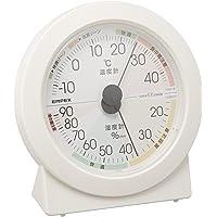 EMPEX 气象计 温度湿度计 高精度通用设计 放置用 日本制造 白色 EX-2831