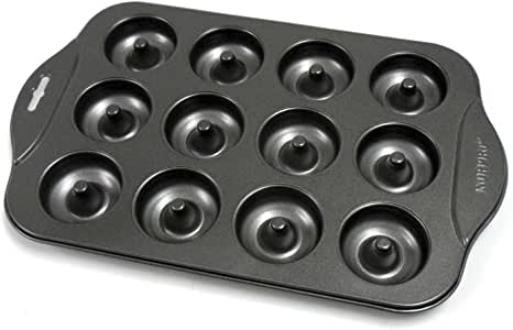 Norpro Nonstick Mini Donut Pan 黑色 12-Count