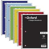 TOPS 1 主题笔记本,螺旋,20.32 cm x 26.67 cm,学院规则,颜色组合可能有所不同,70 张,6 包…