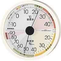 EMPEX 气象计 温度湿度计 高精度通用设计 壁挂型 日本制造 白色 EX-2821