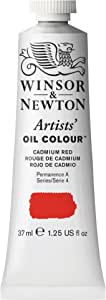 Winsor & Newton Artists Oil Color Paint Tube, 37ml Cadmium Red