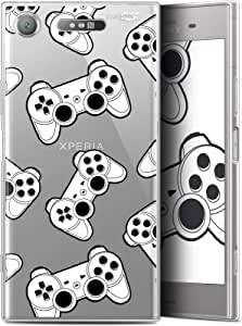 索尼 Xperia XZ1 (5.2) HD 凝胶手机壳 [法国印刷 柔软 - 防震]CRYSPRNTXZ1JOYSTICKS  Sony Xperia XZ1 Game Play Joysticks