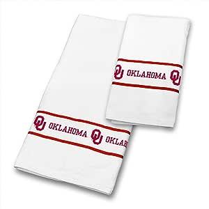 NCAA 俄克拉荷马大学索纳人队毛巾套件,76.2 x 137.16 厘米,白色