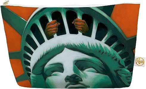 "Kess InHouse Everything Bag,锥形袋,Thomas Fuchs""公民自由""蓝绿色,21.59 x 10.16 cm (TF1006AEP03)"