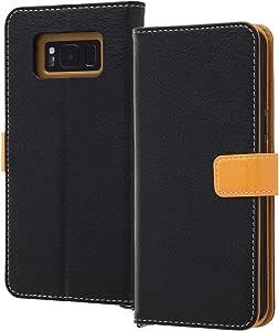 Ray-out 翻盖式保护壳2种颜色 ブラック/オレンジ Galaxy S8+