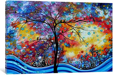 iCanvasART MDN120 Worlds Away by Megan Duncanson Canvas Print, 26 by 18-Inch, 0.75-Inch Deep