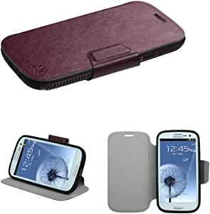 MyBat Wallet Case for Samsung Galaxy S III - Retail Packaging - Black/Brown