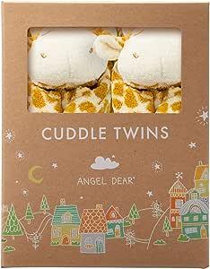 Angel Dear Cuddle Twin Set, Brown Giraffe