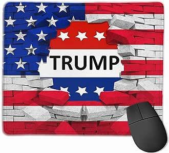 鼠标垫 Follow Your Dreams 鼠标垫 防滑橡胶游戏鼠标垫 矩形鼠标垫 适用于电脑笔记本电脑 均码 American Usa Trump Flag