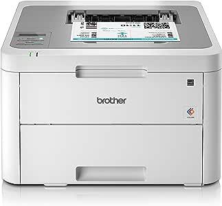 Brother 兄弟 HL-L3210CW 彩色激光打印机-单功能,无线/ USB 2.0,紧凑型,A4打印机,小型办公室/家庭办公室打印机