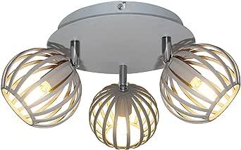 Interfan 3 灯 G9 吸顶灯,灰色,31 x 28 x 14 厘米