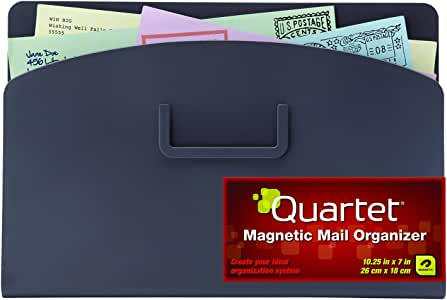Quartet Magnetic Mail Organizer Storage Pouch, 10 x 7 Inches