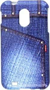 MyBat Phone Protector Cover with Studs for Samsung D710 - Retail Packaging - Blue Jeans