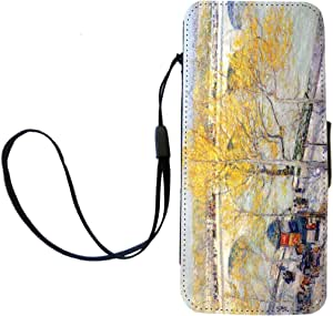 Rikki Knight Childe Hassam Art Pont Royal Paris Flip Wallet iPhoneCase with Magnetic Flap for iPhone 5/5s - Pont Royal Paris