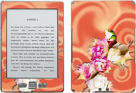 """Disagu 设计贴膜 适用于亚马逊 Kindle 4 eReader – 图案玫瑰花"""