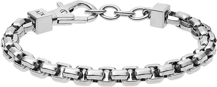 Armani Exchange不锈钢链条手链
