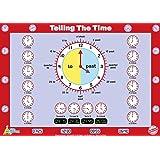 "Little Wigwam Telling The Time Chart - ""No Tear Guarantee ""教育海报(60 x 42 厘米/24 x 17 英寸)"