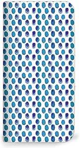 mitas iphone ケース416NB-0186-DB/SC-02H 3_Galaxy S7 edge (SC-02H) 圆点蓝色(无带)