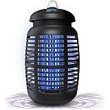 [2合1]灭虫器&吸引剂 - *4000V电动灭蚊器/杀虫器 - 昆虫捕蝇器,户外/室内防水 - 电子灯泡适用于后院、庭院 - 1 英亩,大号