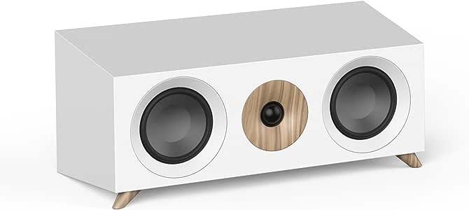 Jamo S 83 CN扬声器,黑色,坚果树,白色(有线,160瓦,65-26000 Hz,8欧姆,黑色,坚果树,白色)