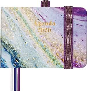 Finocam - 2020年日历,周视图,垂直设计,加泰兰鸢尾花