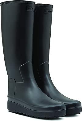 Hunter 女式精致爬行服长靴黑色