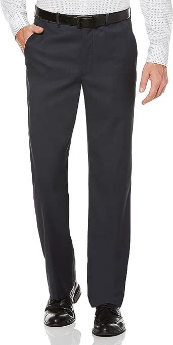 Perry Ellis Men's Portfolio Classic-Fit Flat-Front Sharkskin Pant