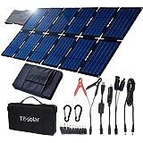 TP-solar 100W 可折叠太阳能电池板充电器套件,适用于便携式发电机供电站智能手机笔记本电脑汽车船房车拖车12V…