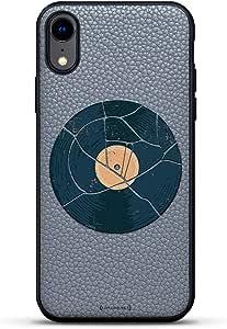 All Things Elon:When Something is Important。 Musk Quote   豪华皮革系列修身版手机壳带真皮背面 & 3D 印花设计,适用于 iPhone XR(15.24 厘米)石灰色LUX-IRLTR2GR-MWMUSIC3 生活方式 LIFESTYLE: Vintage Broken Record