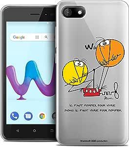 Caseink 手机壳 Wiko Sunny 3 (5) [官方* Shadoks® 收藏家设计 - 柔软 - 超薄 - 法国印制]CPRNTSKSUNNY3POMPING  Wiko Sunny 3 Vivre Pour Pomper