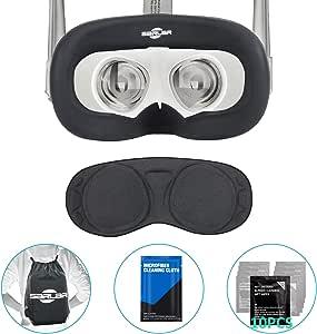 面罩 & 面罩 & 面罩 & 镜片保护罩 防尘罩 适用于Oculus Queset,专业硅胶保护配件,防尘,防汗5件套