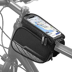 自行车手机前框包 - 防水自行车顶部管把手架手机支架包带骑行敏感触摸屏手机保护套支架兼容 6.7 英寸 Android / iPhone 手机
