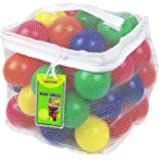 Click N' Play CNP30336 邻苯二甲酸盐 Bpa Free Crush Proof 塑料球,6 种颜色…