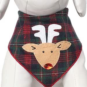 Tail Trends 圣诞犬万花节(圣克萨斯州、雪曼、鲁道尔弗)设计师贴花 * 纯棉 Rudolph 大