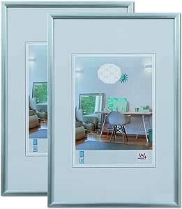 walther design 塑料框架,塑料,银色,30 x 30厘米