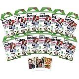 Fujifilm 拍立得 迷你单色胶片INSTAX MINI FILM 12X10 SHTS 120 TOT SHTS  120 Film Pack