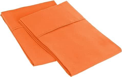 Myra 家居系列超柔2件套枕套 埃及长绒棉纯色 / 条纹系列抗皱, stain-free ,豪华和耐用