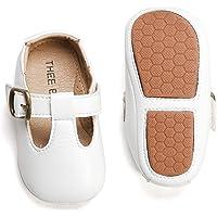THEE BRON 婴儿幼儿软底皮鞋,男孩女孩步行运动鞋