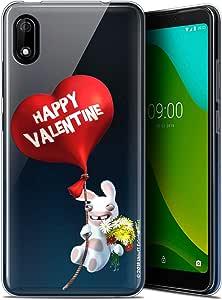 Wiko Y70 (5.99) 手机壳 保护壳 The Rabbits Crétins® [官方收藏] 设计 [ 防震 – 柔软 – 超薄 ]CPRNTLCY70VALENTINEBALOON  Wiko Y70 Valentin Crétin