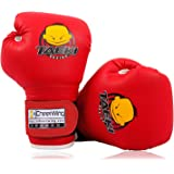 Cheerwing 113.4 克 PU 儿童拳击手套 儿童卡通 MMA Sparring Dajn拳击小子训练手套,年…