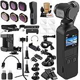 DJI OSMO Pocket 3 轴万向节相机精英组合套装 ND & 旋转偏光滤镜套装、延长杆/自拍杆、三脚架和必备配件