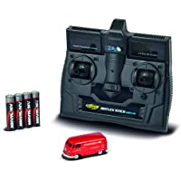CARSON 500504124 – 1:87 VW T1 汽车箱车 保时捷 2.4G RTR,行驶模式,2.4 GHz 遥控带充电接口,包括4xAAA 电台电池,带LED照明,说明书(不一定支持中文)