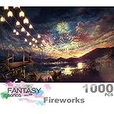Ingooood 收藏系列- Sky Fireworks- 拼图,1000 块装,适合成人特殊毕业或生日礼物家居装饰