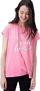Joules BDMTTSHTL 羽毛球 T 恤 - 霓虹糖(美国 6 码)