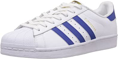 adidas Originals 阿迪达斯三叶草 男 SUPERSTAR FOUNDATION 板鞋 B27141 亮白/学院蓝/亮白 42 (UK 8)