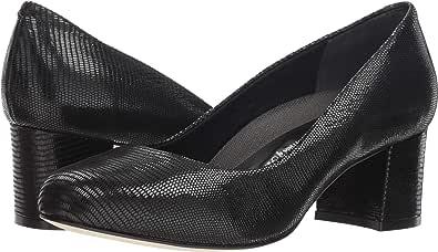 Ros Hommerson 女士 Magnum 芭蕾平底鞋 Black Patent Lizard Print 9