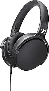 Sennheiser 森海塞尔 包耳式耳机 HD 400S封闭式后部,可拆卸连接线 一键式智能遥控