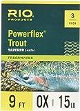 Rio Powerflex 鳟鱼引线,9 英尺,3 件装
