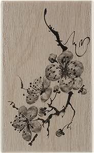 Penny Black 4404K 精致花瓣木质安装橡胶印章